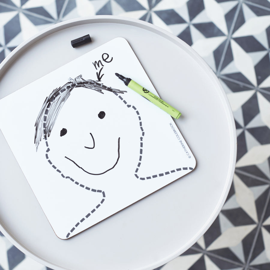 DRAW A FACE PLACEMAT