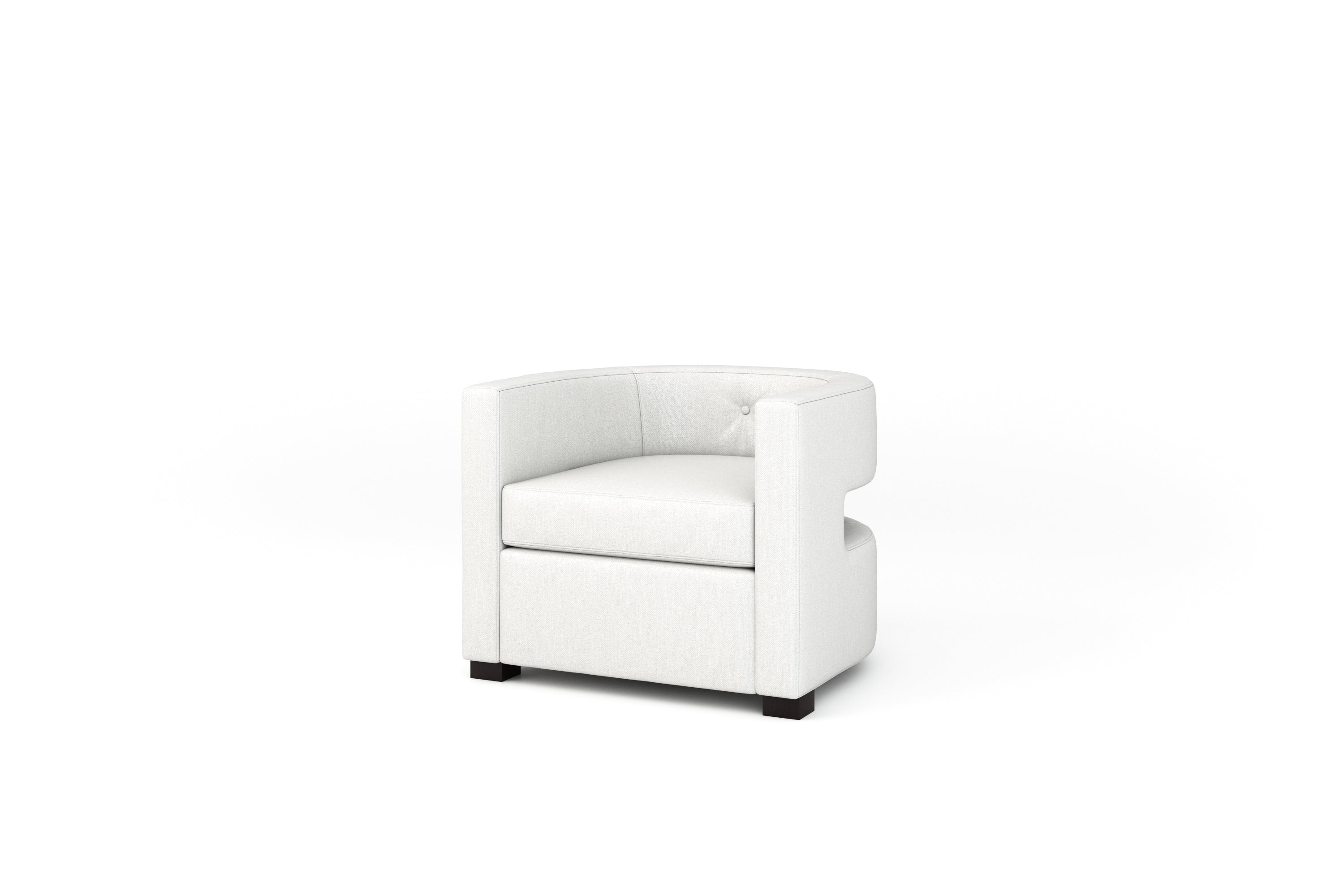 Claude Chair (Leather Fabric, Swivel Base)