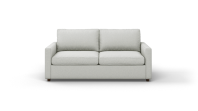 "Couch Potato Lite Sofa (75"" Wide, Extra Depth, Leather Fabric)"