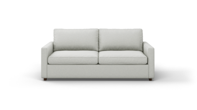 "Couch Potato Lite Sofa (80"" Wide, Extra Depth, Velvet Fabric)"