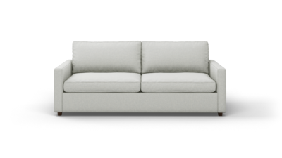"Couch Potato Lite Sofa (85"" Wide, Standard Depth, Leather Fabric)"