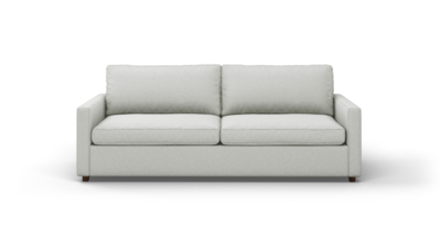 "Couch Potato Lite Sofa (90"" Wide, Extra Depth, Leather Fabric)"