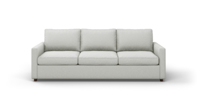 "Couch Potato Lite Sofa (95"" Wide, Standard Depth, Leather Fabric)"