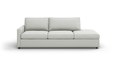 "Couch Potato Lite Sofa With Bumper (100"" Wide, Standard Depth, Performance Fabric)"