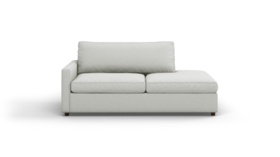 "Couch Potato Lite Sofa With Bumper (80"" Wide, Standard Depth, Performance Fabric)"