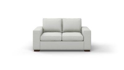 "Couch Potato Sofa (65"" Wide, Standard Depth, Leather Fabric)"
