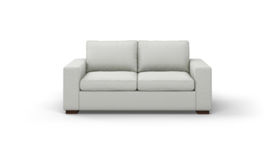 "Couch Potato Sofa (75"" Wide, Standard Depth, Leather Fabric)"