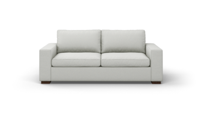 "Couch Potato Sofa (85"" Wide, Standard Depth, Velvet Fabric)"
