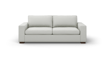 "Couch Potato Sofa (90"" Wide, Standard Depth, Velvet Fabric)"