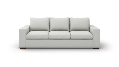 "Couch Potato Sofa (95"" Wide, Extra Depth, Leather Fabric)"