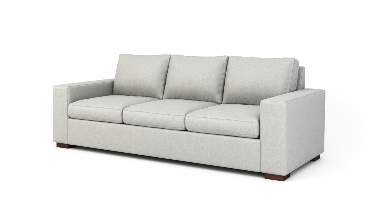 bench seat sofa with rolled arm