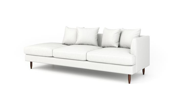 "OG Crowd Pleaser Sofa With Bumper (100"" Wide, Velvet Fabric, Trillium Package)"