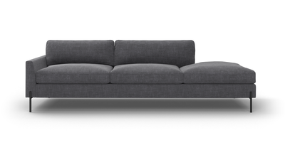 "Catwalk Sofa With Bumper (100"" Wide, Leather Fabric)"