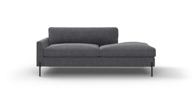 "Catwalk Sofa With Bumper (75"" Wide, Velvet Fabric)"