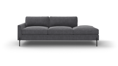 "Catwalk Sofa With Bumper (85"" Wide, Velvet Fabric)"