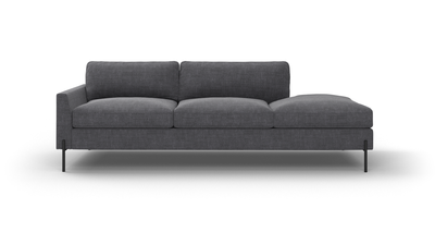 "Catwalk Sofa With Bumper (90"" Wide, Velvet Fabric)"