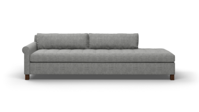 "Home Sweet Home Sofa With Bumper (100"" Wide, Velvet Fabric)"