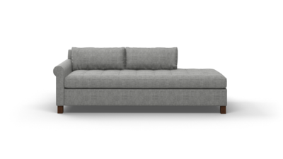 "Home Sweet Home Sofa With Bumper (80"" Wide, Velvet Fabric)"