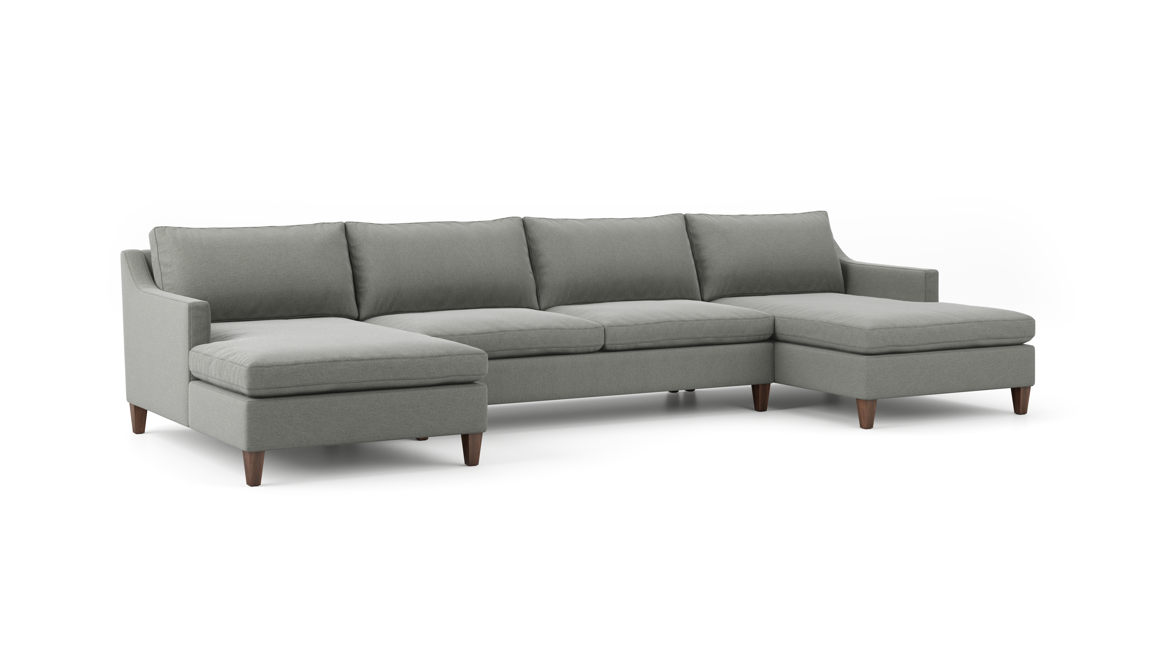 Johnny Homemaker Double Chaise Sectional