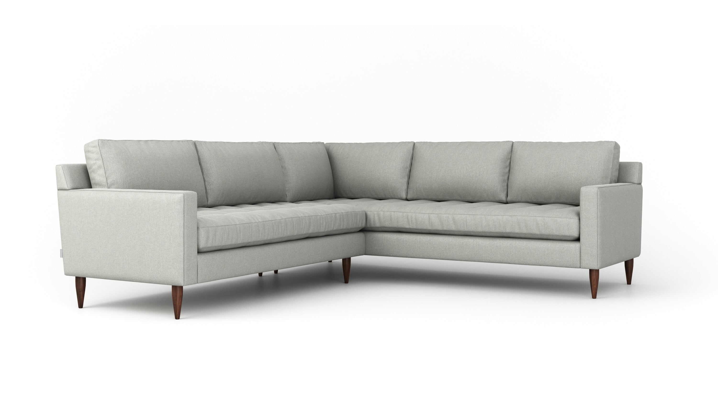 Image of: Mcm Sectional Elegant Midcentury Modern Collection Benchmade Modern