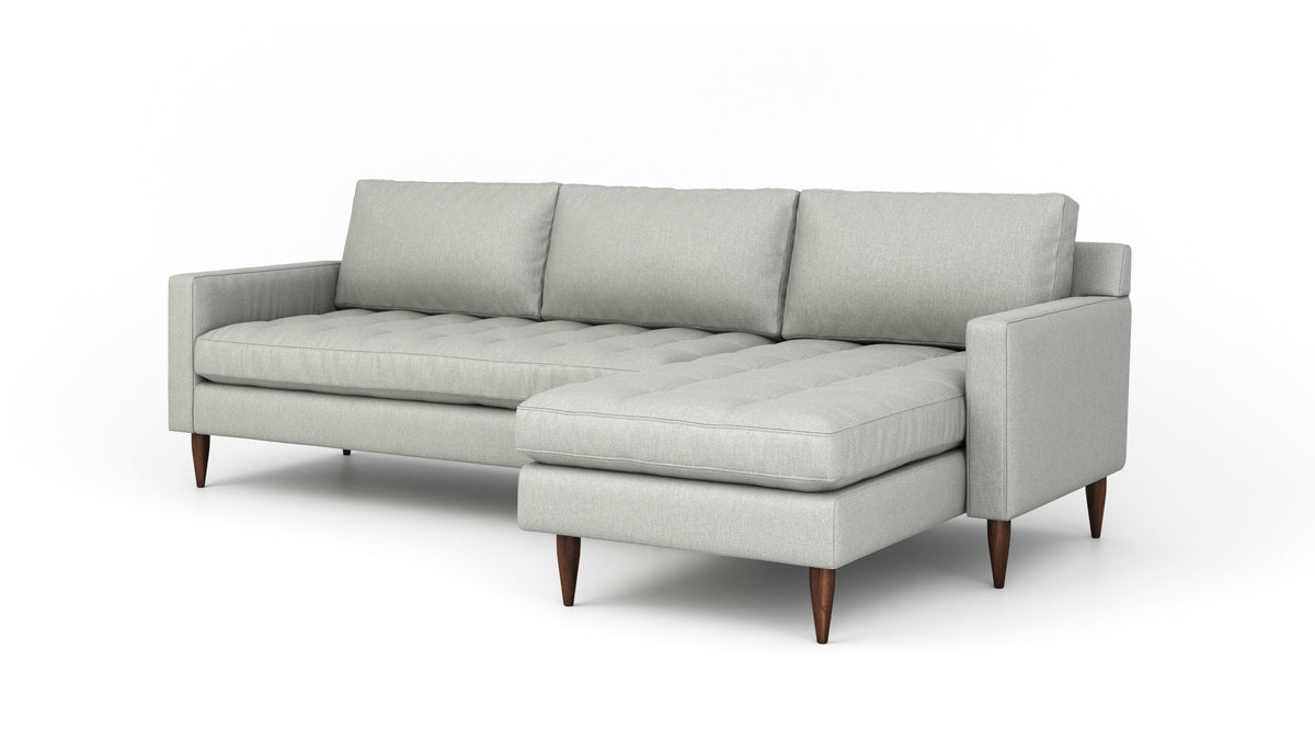 Mcm Sofa With Chaise Mid Century Modern Sofa With Chaise Benchmade Modern