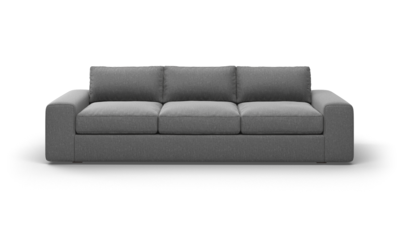 "OG Couch Potato Sofa (100"" Wide, Leather Fabric)"