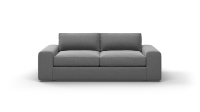 "OG Couch Potato Sofa (80"" Wide, Leather Fabric)"