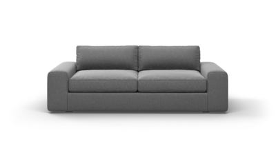 "OG Couch Potato Sofa (85"" Wide, Velvet Fabric)"