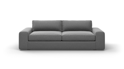 "OG Couch Potato Sofa (90"" Wide, Velvet Fabric)"