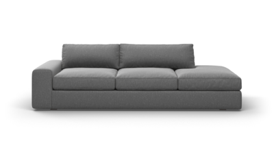 "OG Couch Potato Sofa With Bumper (100"" Wide, Leather Fabric)"