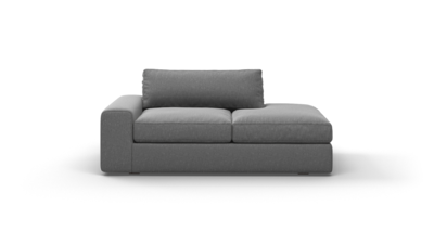 "OG Couch Potato Sofa With Bumper (70"" Wide, Velvet Fabric)"