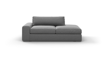 "OG Couch Potato Sofa With Bumper (75"" Wide, Velvet Fabric)"