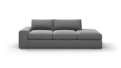"OG Couch Potato Sofa With Bumper (90"" Wide, Velvet Fabric)"