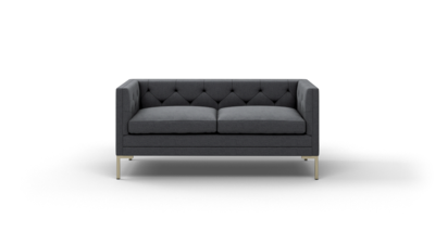 "Sit Tight Sofa (65"" Wide, Decide Later, Antique Brass)"