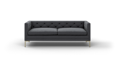 "Sit Tight Sofa (80"" Wide, Decide Later, Antique Brass)"