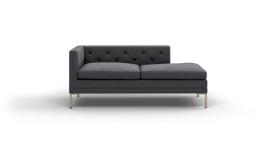 "Sit Tight Sofa With Bumper (70"" Wide, Velvet Fabric)"