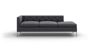 "Sit Tight Sofa With Bumper (90"" Wide, Leather Fabric)"