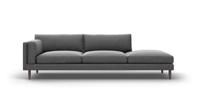 "Skinny Fat Sofa With Bumper (100"" Wide, Extra Depth, Velvet Fabric)"