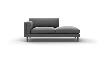 "Skinny Fat Sofa With Bumper (70"" Wide, Extra Depth, Velvet Fabric)"