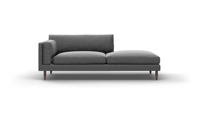"Skinny Fat Sofa With Bumper (80"" Wide, Extra Depth, Velvet Fabric)"