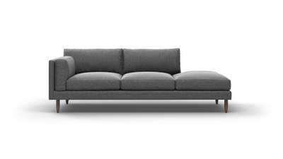 "Skinny Fat Sofa With Bumper (85"" Wide, Extra Depth, Velvet Fabric)"