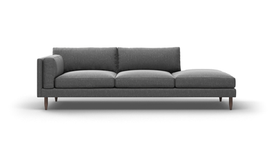 "Skinny Fat Sofa With Bumper (95"" Wide, Extra Depth, Velvet Fabric)"