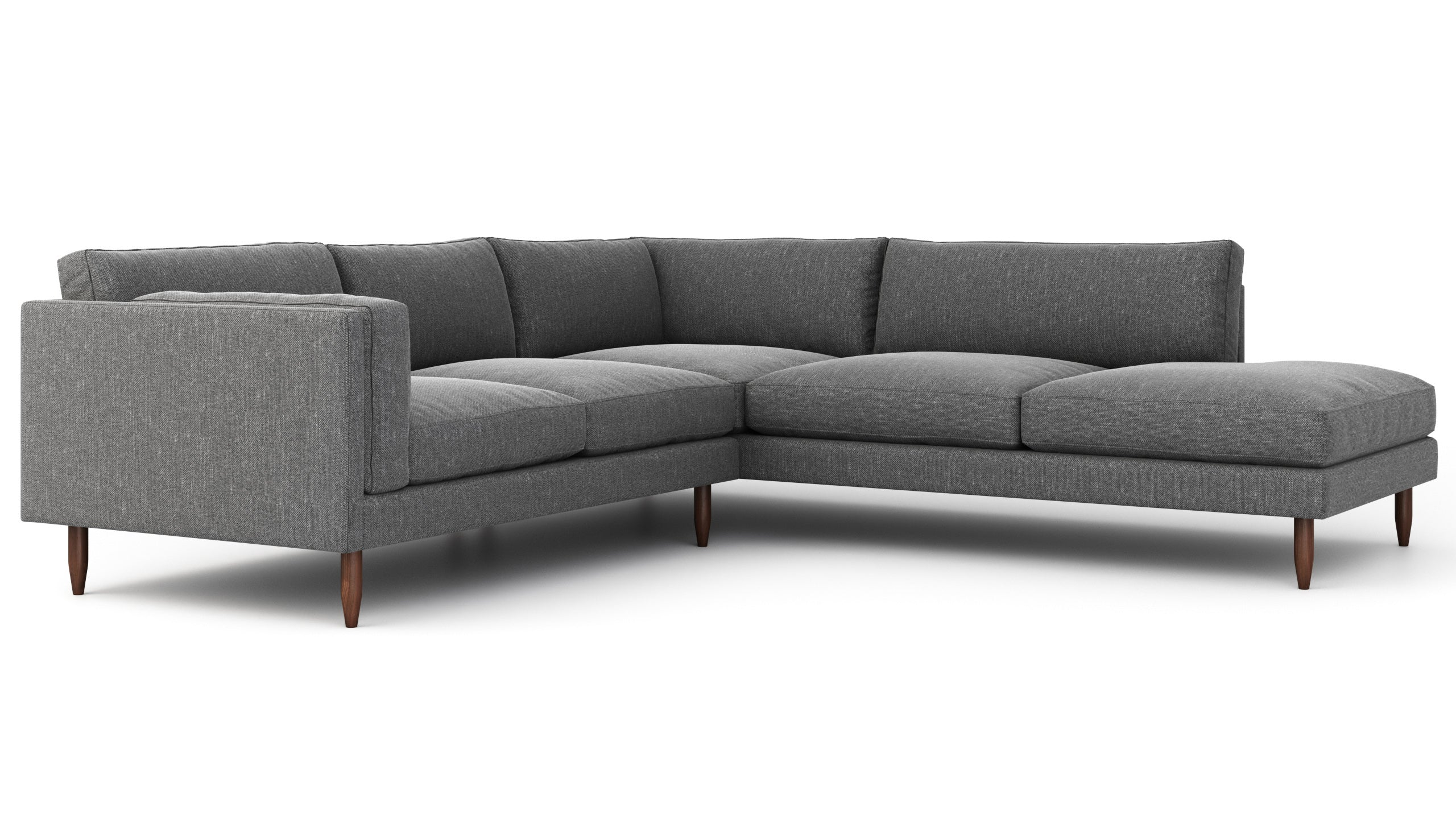 Skinny Fat Sectional With Bumper