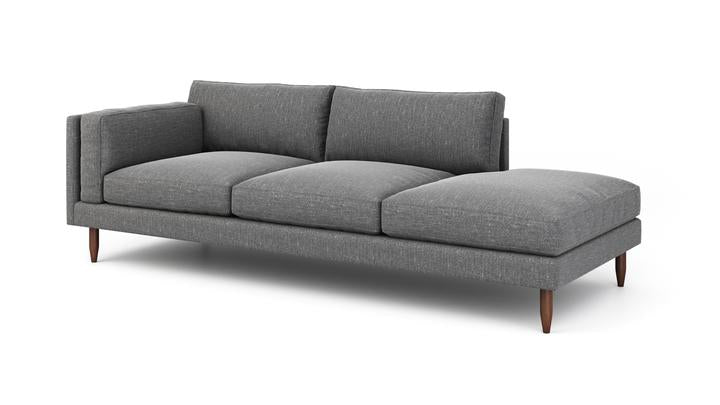 "Skinny Fat Sofa With Bumper (70"" Wide, Extra Depth, Velvet Fabric, Trillium Package)"