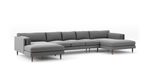Skinny Fat Double Chaise Sectional