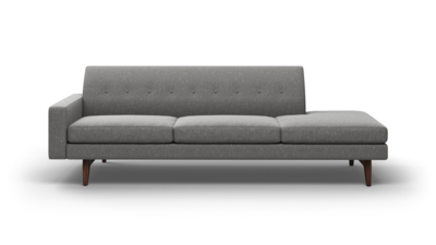 "Tyler Sofa With Bumper (100"" Wide, Leather Fabric)"