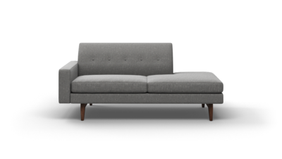 "Tyler Sofa With Bumper (75"" Wide, Leather Fabric)"