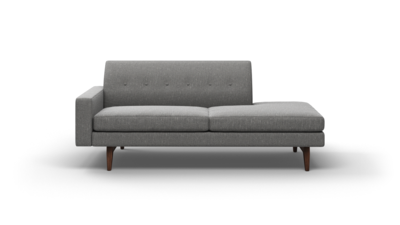 "Tyler Sofa With Bumper (80"" Wide, Leather Fabric)"