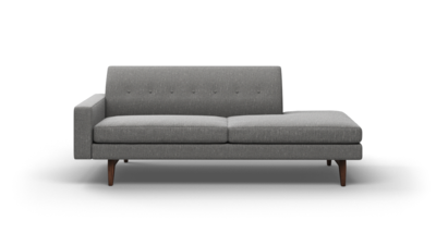 "Tyler Sofa With Bumper (85"" Wide, Leather Fabric)"