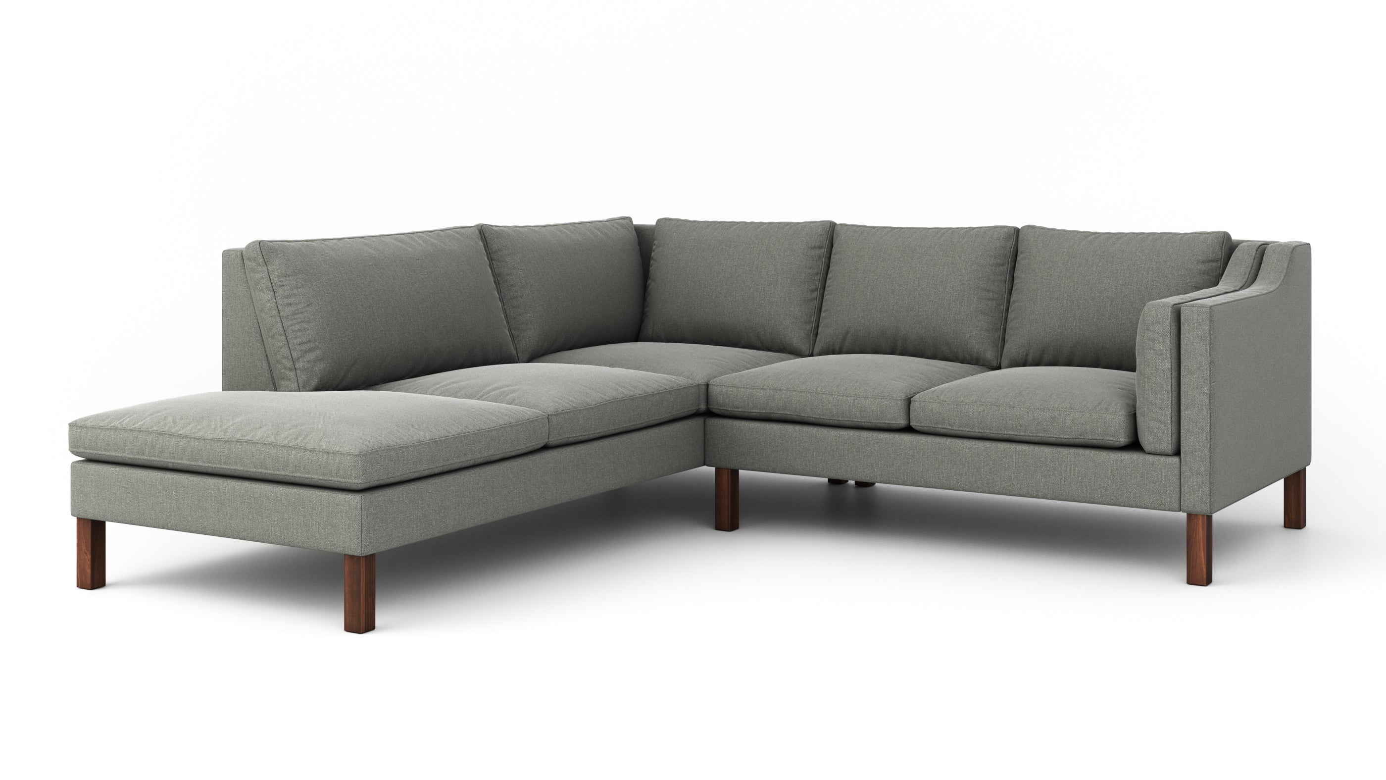 Up-Town Sectional With Bumper